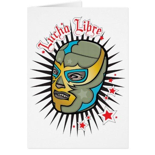 Máscara de lucha mexicana de Lucha Libre Felicitación