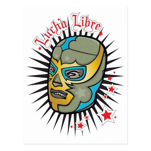 Máscara de lucha mexicana de Lucha Libre Postales