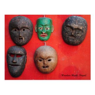 Máscara de madera del Nepali Postal
