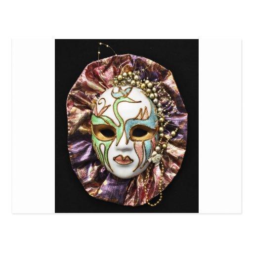 Máscara decorativa del carnaval postales