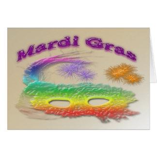 Máscara del carnaval tarjeta de felicitación