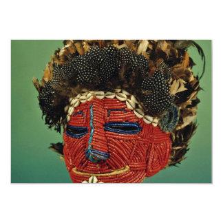 Máscara del culto, Zaire, África Invitación 12,7 X 17,8 Cm
