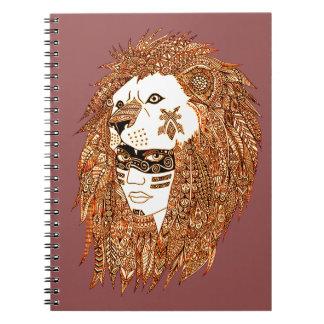 Máscara del león cuaderno