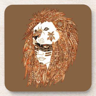 Máscara del león posavasos para bebidas