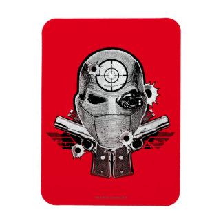 Máscara del pelotón el | Deadshot del suicidio y Imán