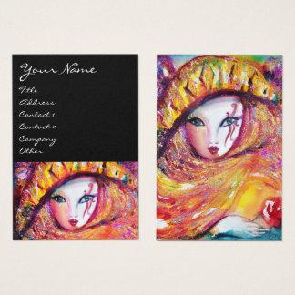 MÁSCARA EN el AMARILLO/las artes interpretativas, Tarjeta De Visita
