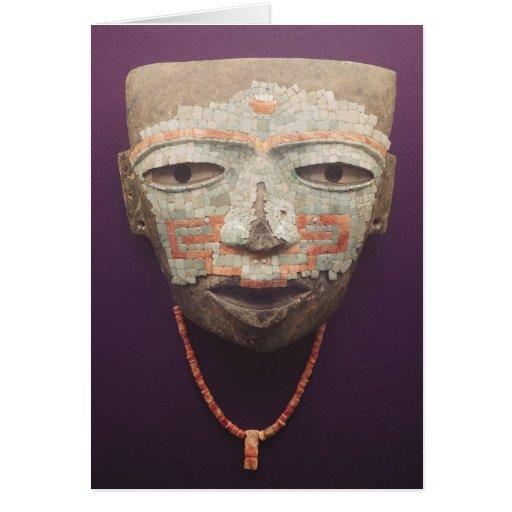 Máscara fúnebre de Teotihuacan Tarjetón