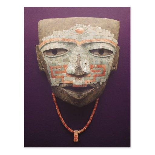 Máscara fúnebre de Teotihuacan Postales