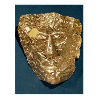 Máscara funeraria postal