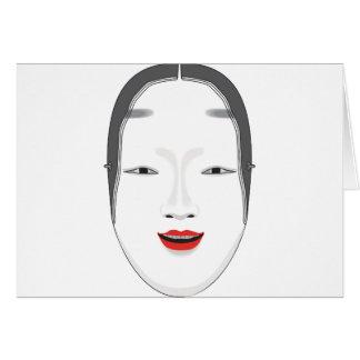 Máscara japonesa tarjeton