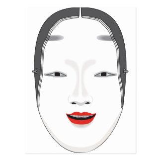 Máscara japonesa tarjeta postal