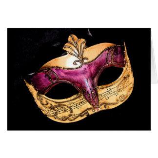 máscara musical tarjeta de felicitación