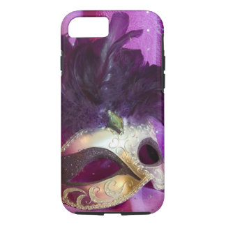 Máscara púrpura de la mascarada funda iPhone 7