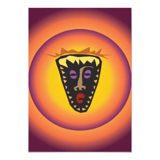 Máscara tribal Sun que brilla intensamente de la Invitación 12,7 X 17,8 Cm