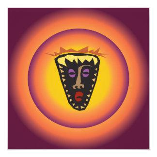 Máscara tribal Sun que brilla intensamente de la Invitación 13,3 Cm X 13,3cm