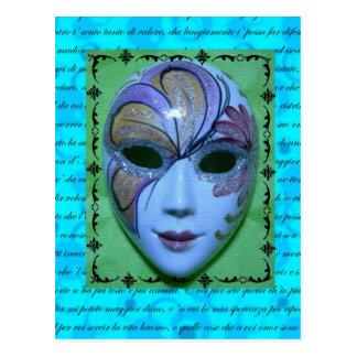 Máscara veneciana 2 postal
