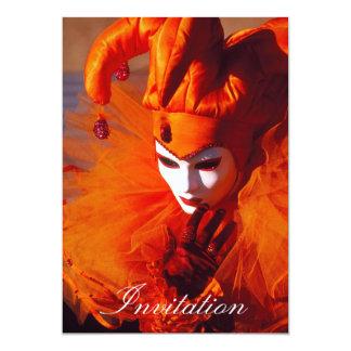 Máscara veneciana invitación 12,7 x 17,8 cm