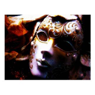 Mascarada de antaño postal