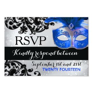 Mascarada que casa las tarjetas de RSVP Invitación 8,9 X 12,7 Cm