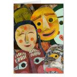 Máscaras coreanas tradicionales: Tarjeta en blanco