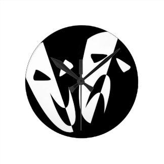 Máscaras de la etapa reloj redondo mediano