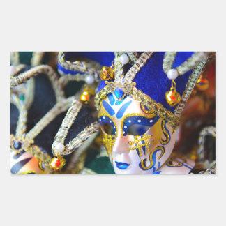 Máscaras de la mascarada del carnaval en Venecia Pegatina Rectangular