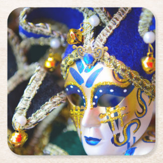 Máscaras de la mascarada del carnaval en Venecia Posavasos Cuadrado De Papel