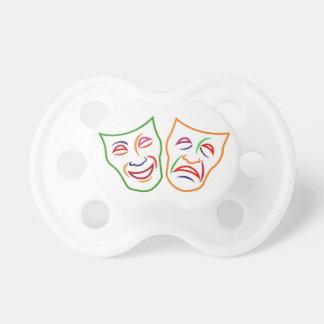 Máscaras de la tragedia de la comedia chupete