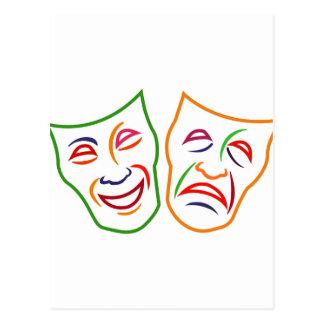 Máscaras de la tragedia de la comedia postal