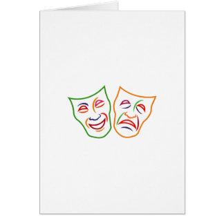 Máscaras de la tragedia de la comedia tarjeta de felicitación