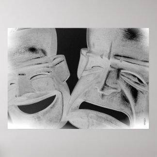 Máscaras de las emociones impresiones