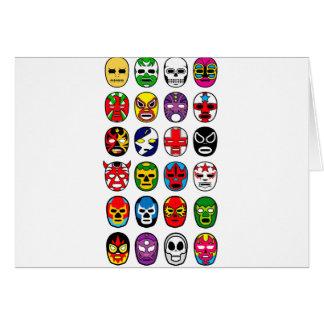 Máscaras de lucha mexicanas de Lucha Libre Luchado Tarjeton