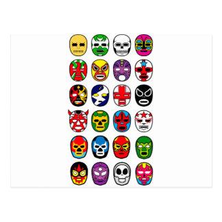 Máscaras de lucha mexicanas de Lucha Libre Luchado Postal