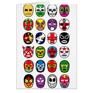 Máscaras de lucha mexicanas de Lucha Libre Tarjeta De Felicitación