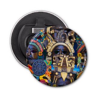 Máscaras de madera mayas para la venta abrebotellas redondo