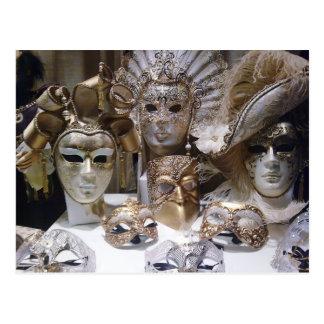 Máscaras del carnaval de Venecia Postal
