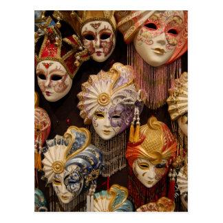 Máscaras del carnaval en Venecia Postal