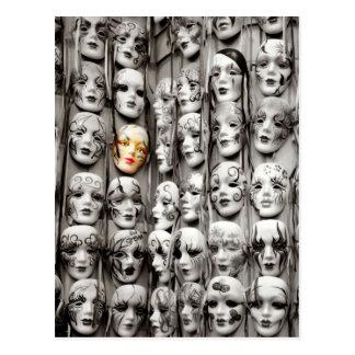 Máscaras del carnaval postal