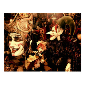 Máscaras del carnaval tarjeta postal