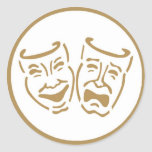Máscaras del drama pegatinas redondas