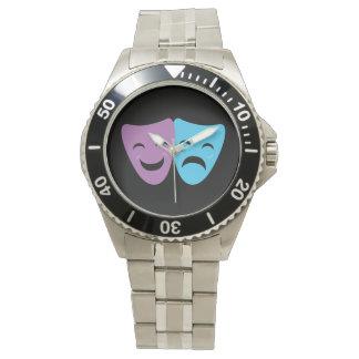 Máscaras del drama relojes de mano