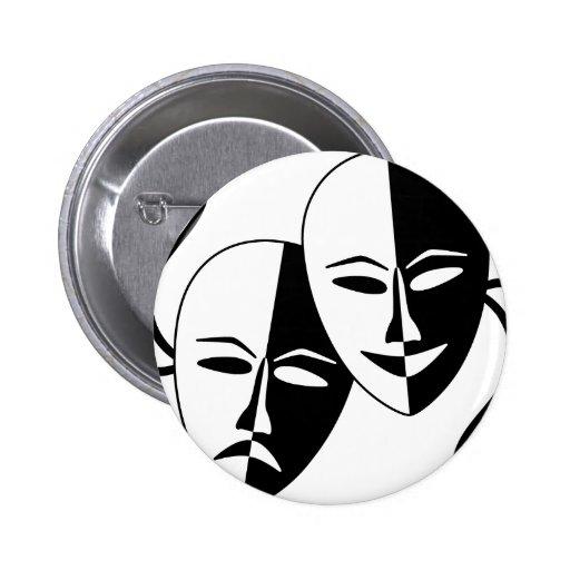 Máscaras del teatro pins