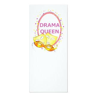 Máscaras del teatro de la reina del drama invitación