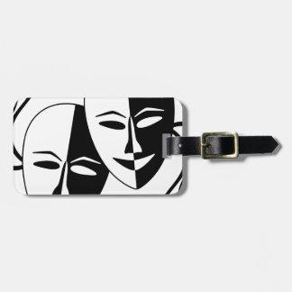 Máscaras del teatro etiquetas maletas