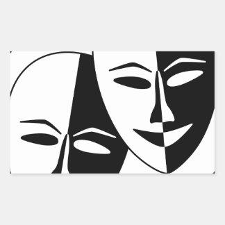 Máscaras del teatro rectangular altavoz