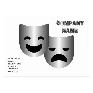 Máscaras del teatro tarjeta de visita