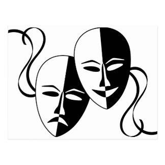 Máscaras del teatro postal