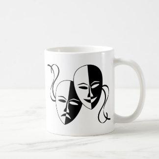 Máscaras del teatro taza de café