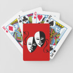 Máscaras del Thespian Baraja Cartas De Poker