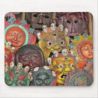 Máscaras en Boudhanath Alfombrilla De Ratón